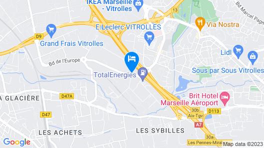 ibis budget Marseille Vitrolles Map