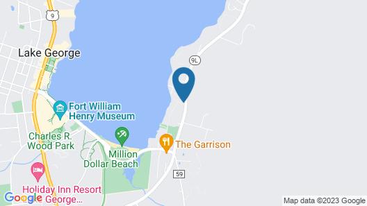0.5 Mile to Million Dollar Beach Map