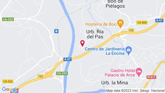 Apartamentos Dunas de Liencres Map
