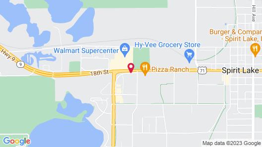 Super 8 by Wyndham Spirit Lake/Okoboji Map