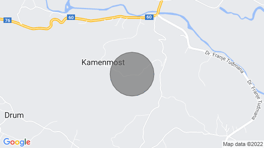 3 Bedroom Accommodation in Kamenmost Map