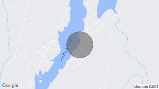 Hemlock House at Lakehadlock Near Lake George and Saratoga in the Adirondacks Map