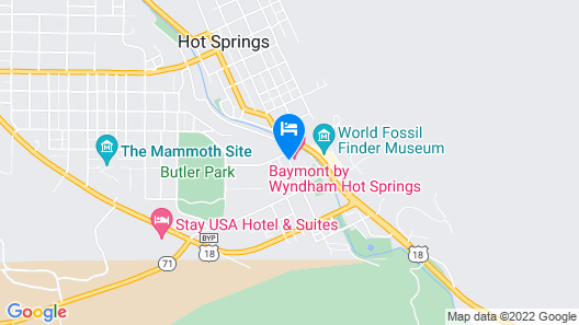 Baymont by Wyndham Hot Springs Map