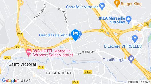Hotel Campanile Marseille - Vitrolles Anjoly Map