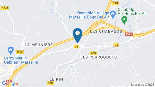 Kyriad Aix Les Milles - Plan de Campagne Map