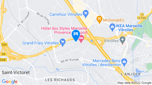 ibis Styles Marseille Provence Aéroport Map