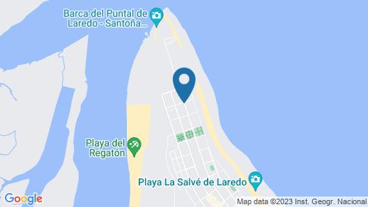 Apartamentos La Marina Map