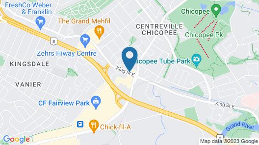 Radisson Hotel Kitchener Waterloo Map