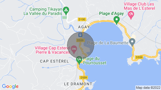 Sea Agay Effect With Private Jacuzzi and Sea View Map