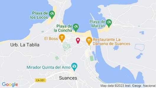 Costa Esmeralda Apartamentos Map