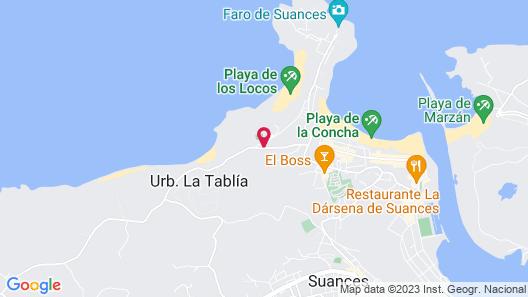 Hotel Arha Villa de Suances Map