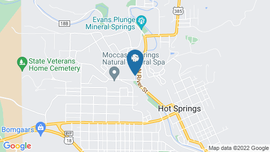 Americas Best Value Inn by the River Hot Springs Map
