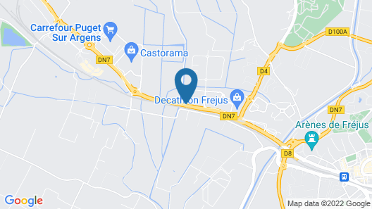 B&B Hotel Frejus Puget-Sur-Argens Map