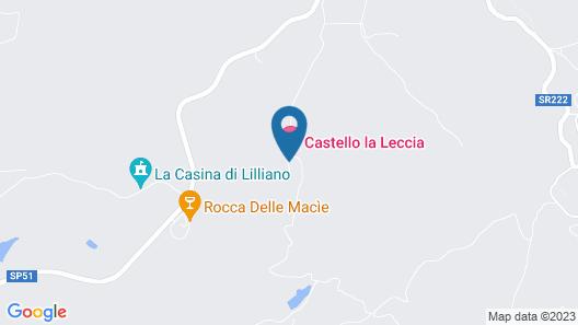 Castello La Leccia Map