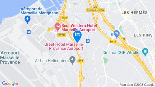Comfort Hotel Marseille Airport Map