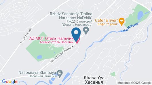 Azimut Hotel Nalchik Map