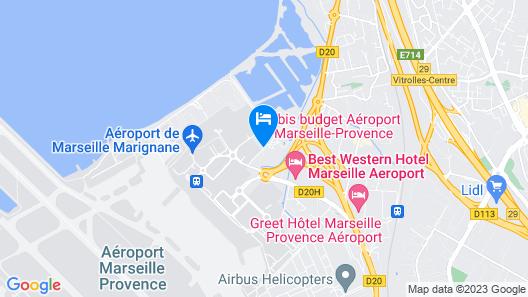 ibis Marseille Provence Aéroport Map
