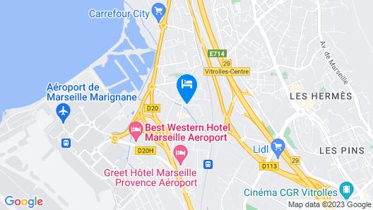 Appart'City Marseille Aéroport – Vitrolles Map
