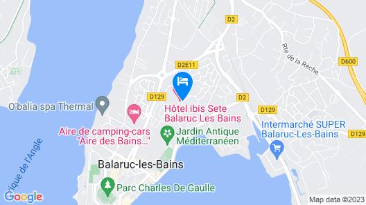 ibis Sète Balaruc les Bains Bien-être et Spa Hotel Map