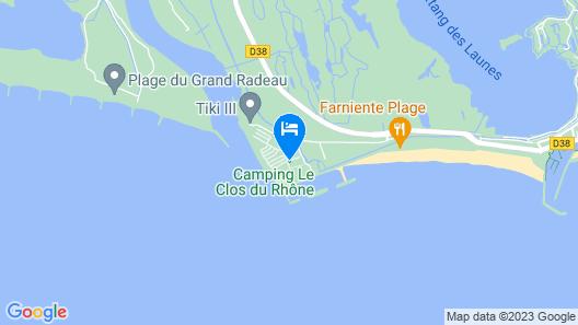 Camping Le Clos du Rhône Map