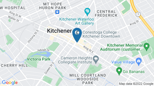 Crowne Plaza Kitchener-Waterloo, an IHG Hotel Map