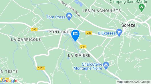Chambres d'Hotes Le Moulin de l'Abbe Map