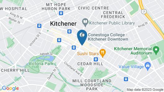 Crowne Plaza Kitchener-Waterloo Map