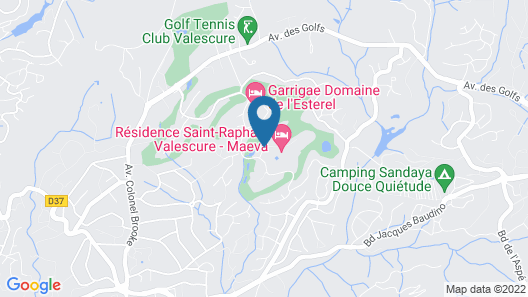 Résidence Pierre & Vacances Saint-Raphael Valescure Map