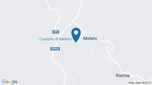 Castello di Meleto Map