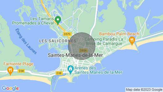Studio Avec Terrasse aux Saintes Maries de la mer Map