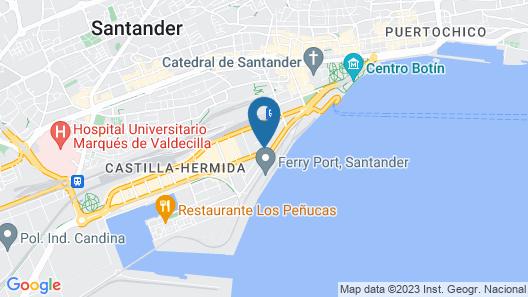 Hotel City House Alisas Santander Map