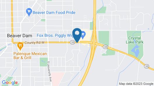 Super 8 by Wyndham Beaver Dam Map