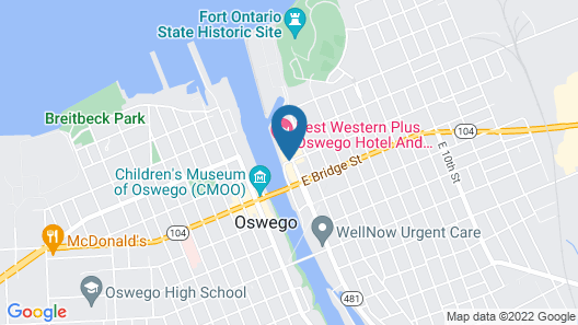 Best Western Plus Oswego Hotel and Conference Center Map