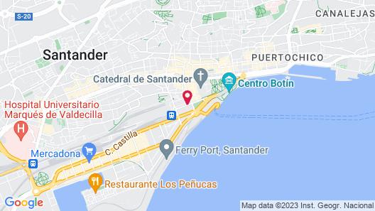 Abba Santander Hotel Map