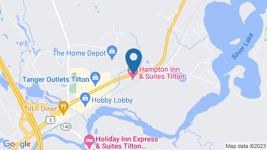 Hampton Inn & Suites Tilton Map