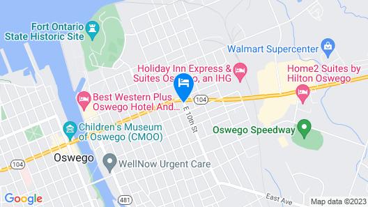 Oswego Inn Map