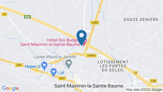ibis budget Saint Maximin la Sainte Baume Map