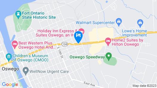 Knights Inn Oswego Map