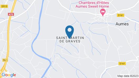 Chateau Saint Martin de Graves Map