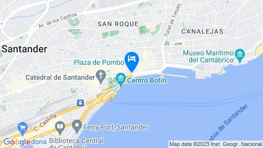 Hostel Santander Map
