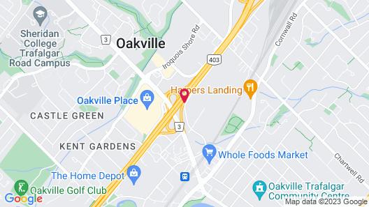 Monte Carlo Inn Oakville Suites Map
