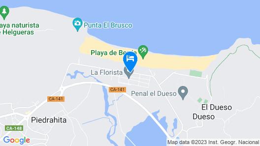Playa de Berria Albergue Tursitico Map