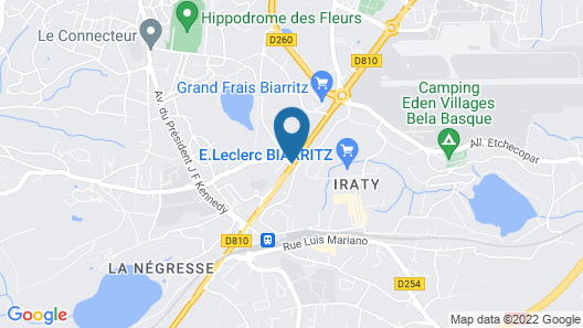 Hotel Campanile Biarritz Map