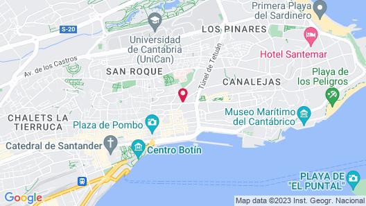 NH Ciudad de Santander Map
