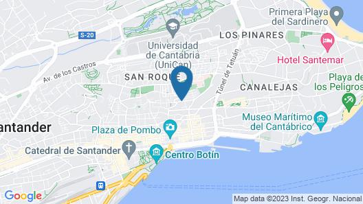 Hotel Art Santander Map