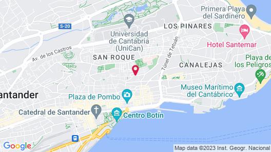 Art Suites Santander Map