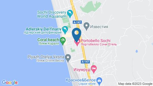 Portobello Sochi Hotel Map