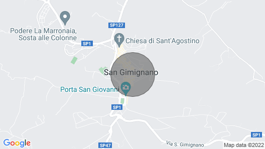 Apartment in San Gimignano With 1 Bedrooms Sleeps 2 Map