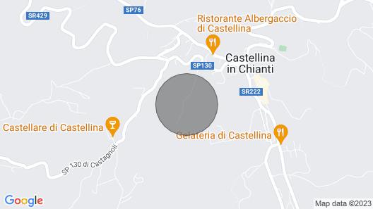 La Querce, Rocca di Castellina, Castellina in Chianti, Siena and Chianti Map