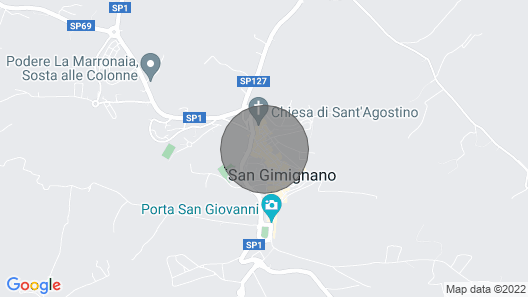 City  / Village Apartment in San Gimignano with 3 bedrooms sleeps 8 Map